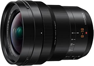 PANASONIC LUMIX Professional 8-18mm Camera Lens, G LEICA DG VARIO-ELMARIT, F2.8-4.0 ASPH, Mirrorless Micro Four Thirds, H-E08018 (Black) (Renewed)