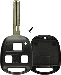 KeylessOption Key Replacement Case Shell Keyless Entry Remote Fob Uncut Blade Fix Master Compatible with Hyq1512v, Hyq12bbt