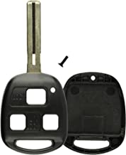 KeylessOption Keyless Entry Remote Control Car Key Fob Long Blade Replacement for HYQ1512V 4C Pack of 2