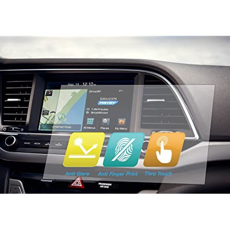 8 x 7 inches Universal Trimmable Screen Protector for All Subaru Navigation Anti-Glare and Anti Finger Print 3-Pack