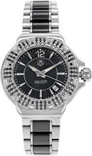 F1 Black Dial Steel and Ceramic Black Diamond Bezel Ladies Watch WAH1216.BA0859