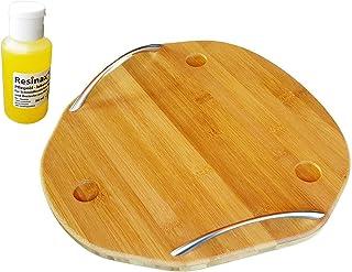 Wood - Tabla para Thermomix de madera de bambú para la TM5 y TM6, con aceite de cuidado para tablas de cortar y mangos de cuchillos, apto para alimentos, calidad ecológica
