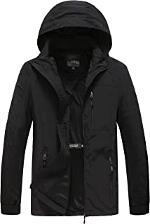Men's Hooded Lightweight Windbreaker Jacket Softshell