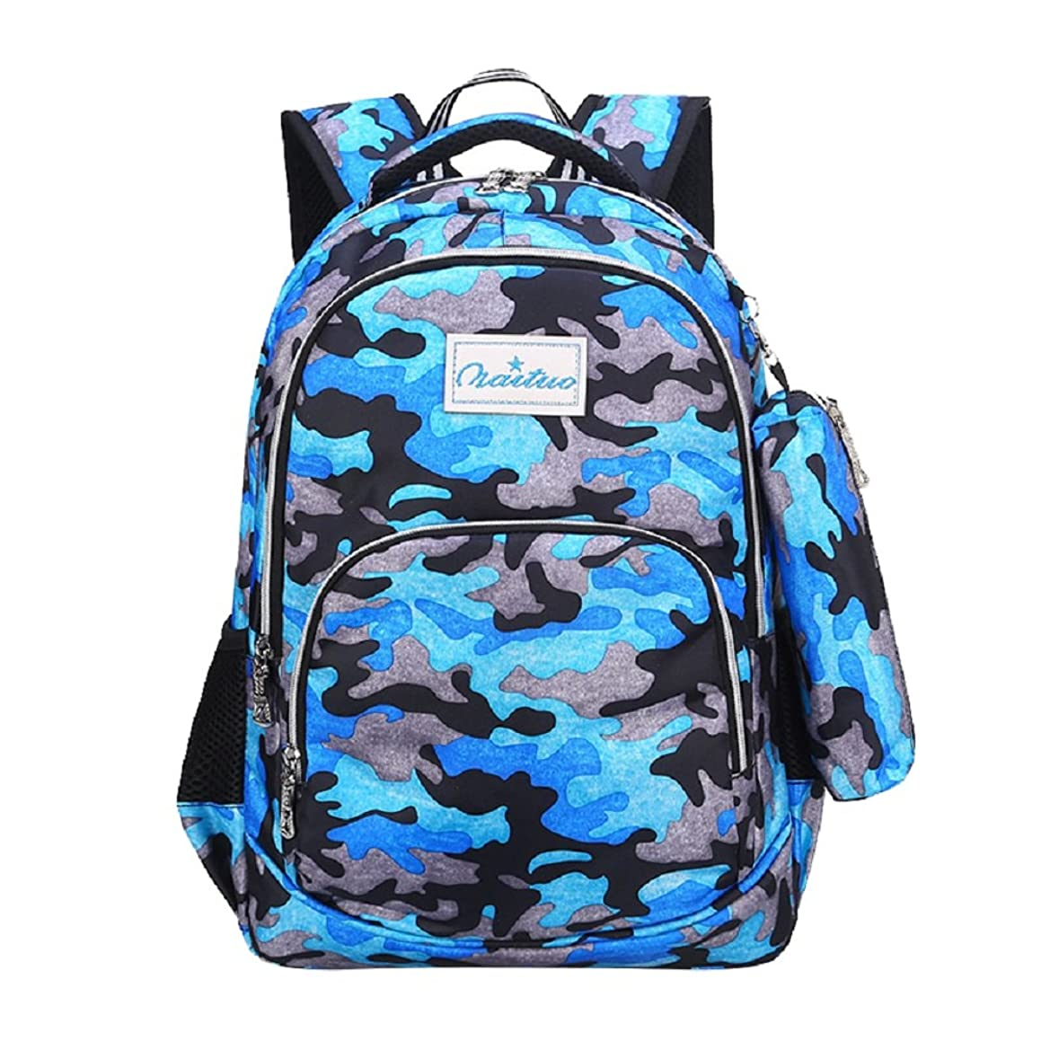 VIDOSCLA Camouflage Primary School Bag Elementary Student Backpack Boys Book Bag with Pencil Case