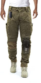 Men's Airsoft Wargame Tactical Pants with Knee Protection System & Air Circulation System
