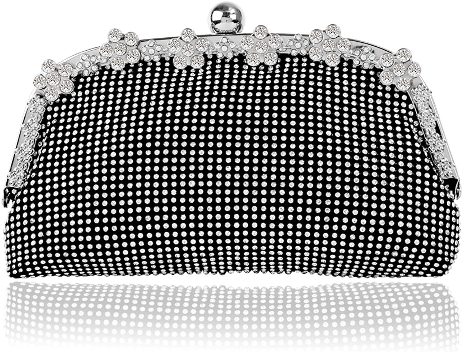 Bagood Full Shining Rhinestones Handbags For Women's Wedding Party Evening Clutches Purses