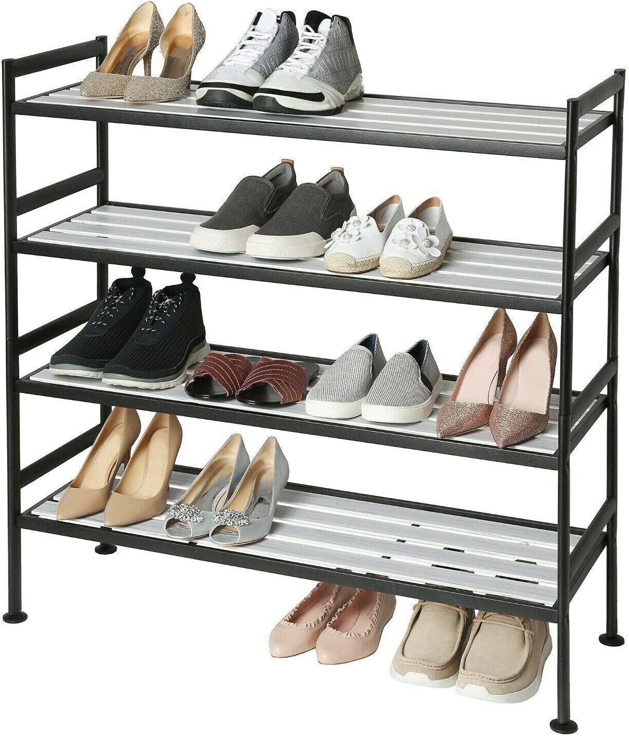 2-PACK STACKING SHOE RACK ALPINE organizer ASH Shoe rack Super beauty product restock quality Louisville-Jefferson County Mall top f