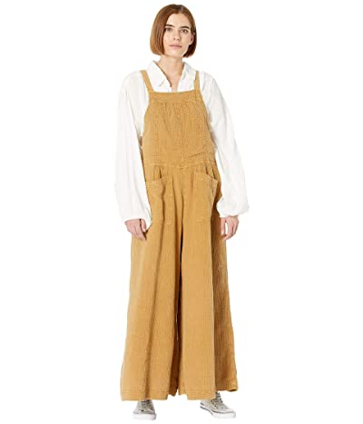 Free People Cyprus Ave Overalls (Golden Brown) Women