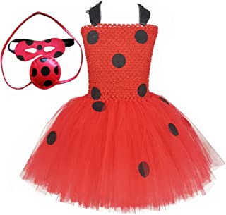 O'COCOLOUR Ladybug Costume for Girls 1-10 Years Kids Role Play Dresses Halloween Carnival Birthday Party