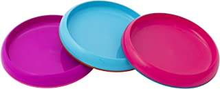 Boon Baby-Girls Plate, Pink/Blue/Purple, Pack of 3