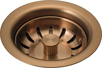 Delta Faucet 72010 Bz Kitchen Sink Flange Strainer Brilliance Brushed Bronze 4 5 Faucet Flanges Amazon Com