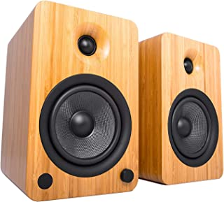 Kanto YU6 Powered Speakers with Bluetooth and Phono Preamp, Bamboo