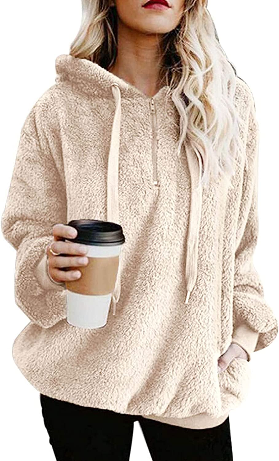 Hoodies for ! Super beauty product restock quality top! Women Athletic Oversized Sweat New Free Shipping Hoodie Fuzzy Pullover