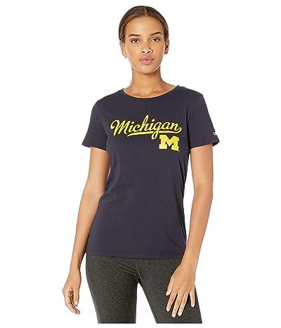 Champion College Michigan Wolverines University Tee (Navy) Women