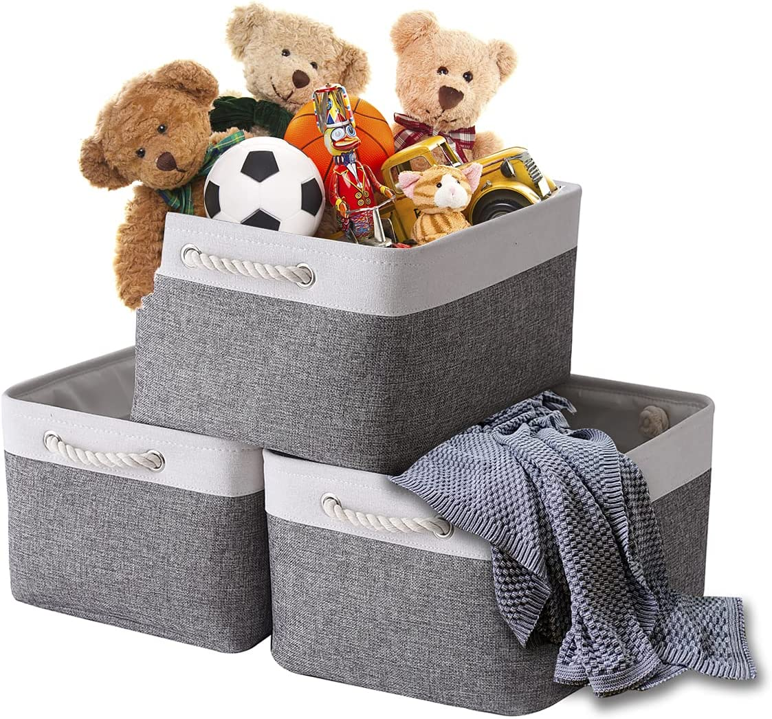TheWarmHome safety Fabric sold out Storage Bins Baskets Sturdy Organizing St for