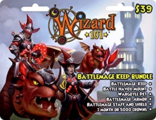 Wizard 101 Battlemage Keep Bundle Prepaid Game Card
