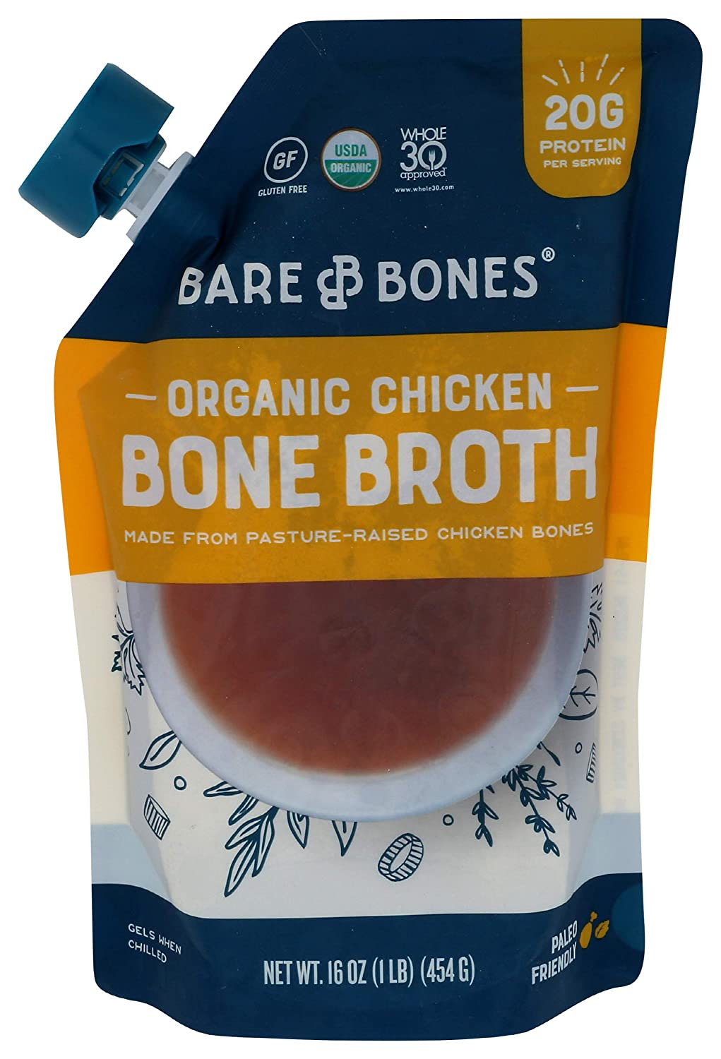 Bare Bones Organic Spring new work one after another We OFFer at cheap prices Chicken Broth Ounce Bone 16