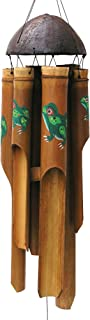 Cohasset Gifts Bamboo Wind Chimes | Small 31 inch | Natural Beautiful Sound | Wood Outdoor Home Decor | #140 Frog