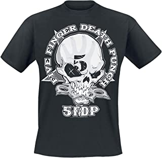 Five Finger Death Punch One Two Fuck You Hombre Camiseta Negro, Regular