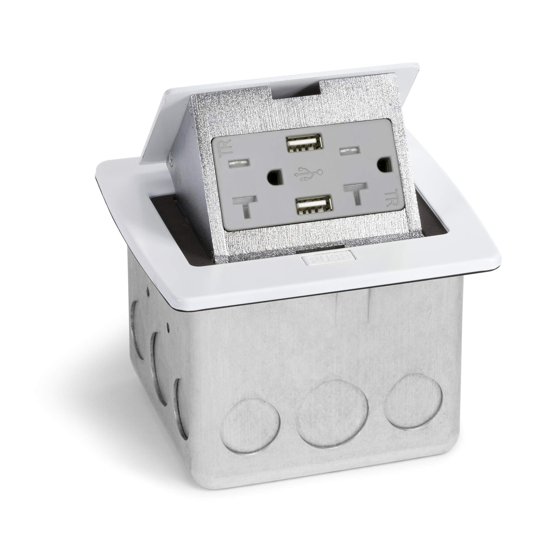 Kitchen Countertop Charging Outlet White