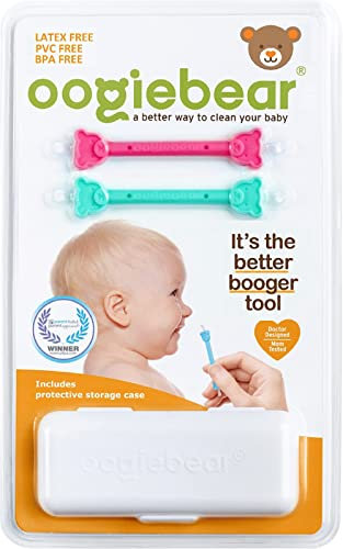 oogiebear - oogiebear - Patented Nose and Ear Gadget. Safe, Easy Nasal Booger and Ear Cleaner for Newborns and Infant...