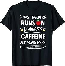 This Teacher Runs On Kindness Caffeine T-Shirt Gift