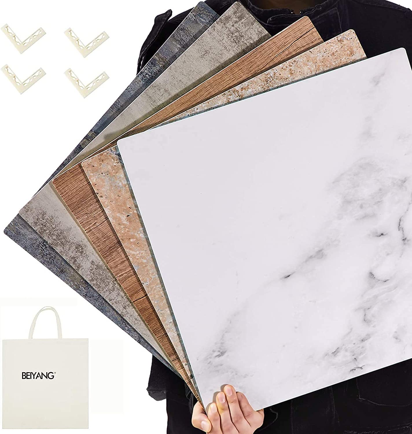 5 PCS Boards Photo Backdrop for Flat Lay, Food Photography Background 16x16 Inch, BEIYANG