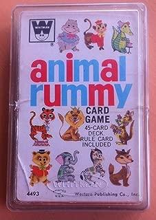 Vintage Whitman Animal Rummy Card Game