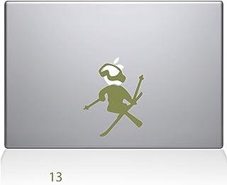 "The Decal Guru Skiing decal Apple Decal Vinyl Sticker, 13"" MacBook Air, Gold (1636-MAC-13A-G)"