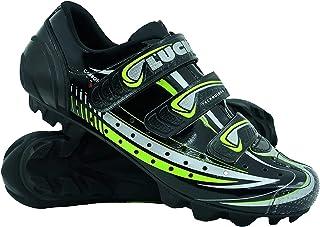LUCK Zapatilla de Ciclismo Master, con Suela de Carbono y Triple Tira de Velcro para una sujeción
