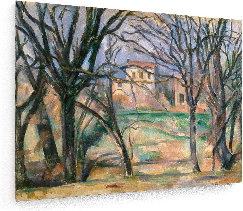 Paul Cezanne - Bäume Bäume Bäume und Häuser - 80x60 cm - Leinwandbild auf Keilrahmen - Wand-Bild - Kunst, Gemälde, Foto, Bild auf Leinwand - Alte Meister Museum B07HMBC3QL bb43d3