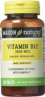 Mason Natural Vitamin B-12 1Vitamin 000 Mcg 100 Tabs