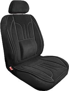 saferide | Sitzauflage Auto Vordersitze Autositzmatte Wasserdicht Autositzbezug Fahrersitz Universal Sitzschutz Velours Schwarz mit Airbag 1 Autositz Vorne