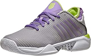 K-Swiss Women's Hypercourt Supreme Tennis Shoe (Silver/Fairy Wren/Sharp Green, 5)