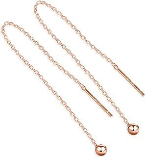 Best long drop earrings rose gold Reviews