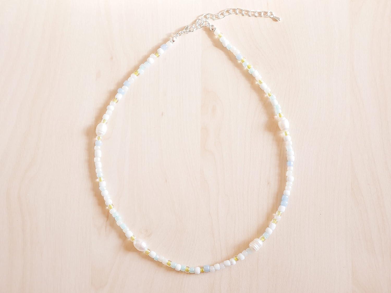 Light beaded necklace - cute choker Manufacturer regenerated product Las Vegas Mall c delicate summer romantic