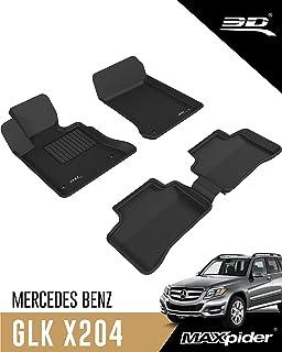 3D MAXpider - L1MB06501509 Custom Fit Complete Floor Mat Set for Select Mercedes-Benz GLK-Class Models - Kagu Rubber (Black)