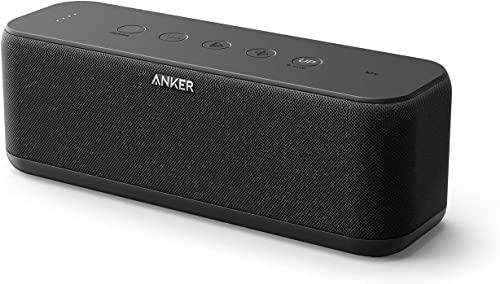 Anker Soundcore Boost Bluetooth Speaker with Well-Balanced Sound, BassUp, 12H Playtime, USB-C, IPX7 Waterproof, Wirel...