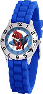 Marvel Kid's MA0103-D2785-BlueRubber Marvel Spider-Man Classic Time Teacher Watch