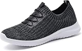 Echoine Women's Athletic Walking Sneakers - Lightweight Casual Knit Slip On Tennis Shoes