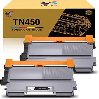 ONLYU Compatible Toner Cartridge Replacement for Brother TN450 TN420 TN-450 TN-420 to use with HL-2270DW MFC-7360N MFC-7860DW DCP-7065DN Intellifax 2840 2940 (Black, 2-Pack)