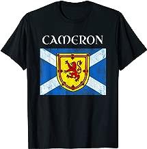 Cameron Scottish Clan Name Gift Scotland Flag Festival T-Shirt