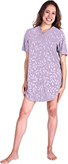 Cool-jams Moisture Wicking Snap Front Nightshirt (S-2X)