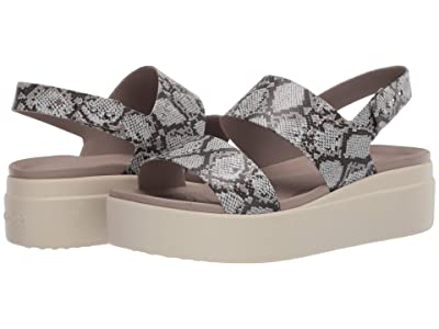 Crocs Brooklyn Low Wedge (Multi/Stucco) Women