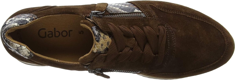 Gabor Shoes Gabor Jollys, Zapatillas para Mujer Marrón Whiskey Kombi 18