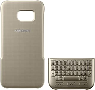 Samsung Galaxy S7 Edge Protective Keyboard Case Cover - Gold