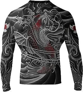 Raven Fightwear Men's Irezumi 2.0 Rash Guard MMA BJJ Black