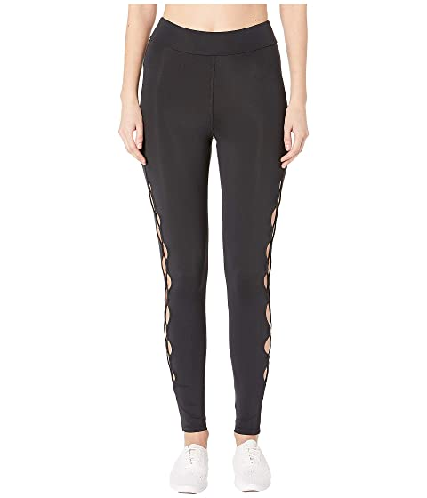 Cushnie High-Waisted Leggings with Half Circle Cut Outs