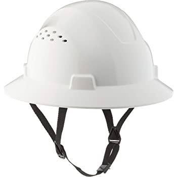 TRUECREST/HDPE Natural White Full Brim Hard Hat with Fas-trac Suspension
