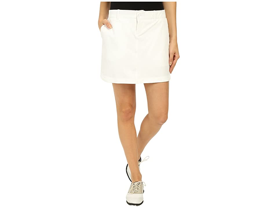Under Armour Golf Links Woven Skort (White/True Gray Heather/White) Women